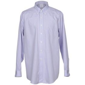 《期間限定 セール開催中》BROOKS BROTHERS メンズ シャツ スカイブルー 15 スーピマ 100%
