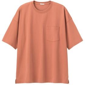 (GU)スーパービッグT(5分袖) ORANGE XL