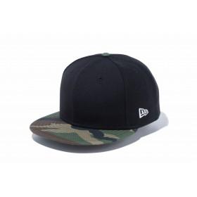 【ニューエラ公式】 9FIFTY ベーシック ブラック ホワイトフラッグ ウッドランドカモバイザー メンズ レディース 57.7 - 61.5cm キャップ 帽子 11559021 NEW ERA