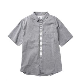 綿100%パナマ前立て切替半袖シャツ 大きいサイズメンズ カジュアルシャツ