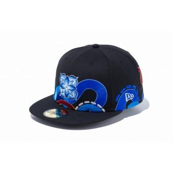 NEW ERA ニューエラ 59FIFTY HITOTZUKI HTZK CLASSIC ブラック ベースボールキャップ キャップ 帽子 メンズ レディース 7 (55.8cm) 11909234 NEWERA