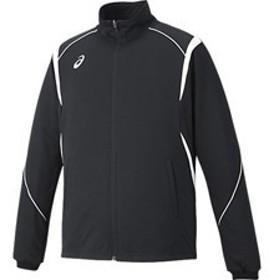 asics アシックス オールスポーツ トレーニングジャケット XAT143-9001 ブラック×ホワイト 男女兼用 ウェア アパレル お取り寄せ商品