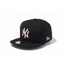 【ニューエラ公式】 59FIFTY MLB ニューヨーク・ヤンキース ブラック × ピンク メンズ レディース 7 (55.8cm) MLB キャップ 帽子 11308568 NEW ERA
