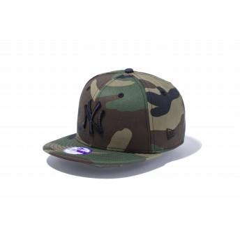 NEW ERA ニューエラ キッズ 9FIFTY ニューヨーク・ヤンキース ウッドランドカモ × ブラック スナップバックキャップ アジャスタブル サイズ調整可能 ベースボールキャップ キャップ 帽子 メンズ レディース 52 - 55.8cm 11433963 NEWERA