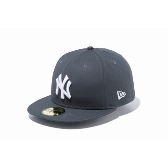 【ニューエラ公式】 59FIFTY タイプライター ニューヨーク・ヤンキース ダークグレー × ホワイト メンズ レディース 7 1/2 (59.6cm) MLB キャップ 帽子 11901295 NEW ERA
