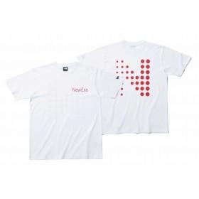 【ニューエラ公式】 コットン Tシャツ Dots N ホワイト メンズ レディース Large 半袖 Tシャツ 11901399 NEW ERA