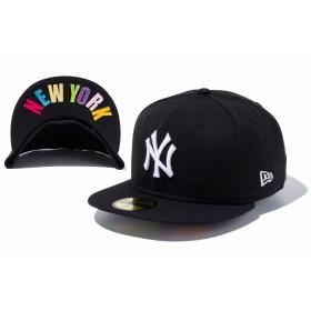【ニューエラ公式】 59FIFTY UNDERVISOR ニューヨーク・ヤンキース ブラック × ホワイト NEW YORKマルチカラー メンズ レディース 7 (55.8cm) MLB キャップ 帽子 11308536 NEW ERA