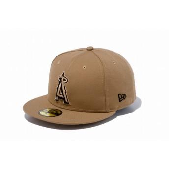 NEW ERA ニューエラ 59FIFTY ロサンゼルス・エンゼルス カーキ × ブラック ベースボールキャップ キャップ 帽子 メンズ レディース 7 1/8 (56.8cm) 70474764 NEWERA