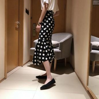 シフォンAラインスカート ロングスカート レディース ゴムウエスト ハイウエスト オシャレ 着痩せ ファッション フリーサイズYNC69