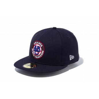 NEW ERA ニューエラ 59FIFTY ニグロリーグ アトランタ・ブラッククラッカーズ ネイビー × チームカラー ベースボールキャップ キャップ 帽子 メンズ レディース 7 (55.8cm) 11899316 NEWERA