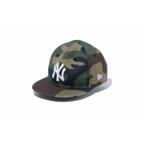 【ニューエラ公式】キッズ My 1st 9FIFTY ニューヨーク・ヤンキース ウッドランドカモ × ホワイト 男の子 女の子 48.3 - 50.1cm MLB キャップ 帽子 12018909 NEW ERA