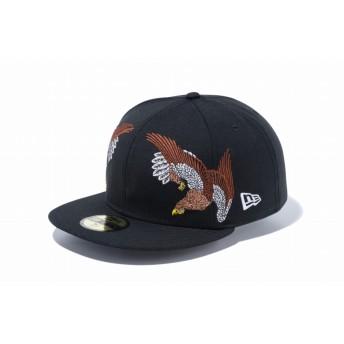 NEW ERA ニューエラ 59FIFTY 石川真澄 Masumi Ishikawa 鷹 ブラック ベースボールキャップ キャップ 帽子 メンズ レディース 7 (55.8cm) 11909223 NEWERA