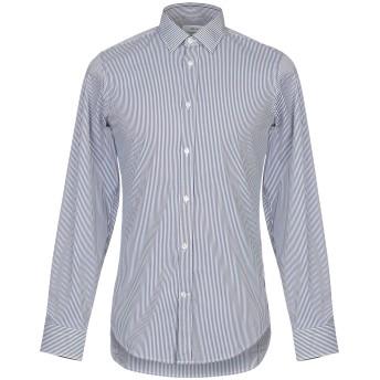 《セール開催中》MAURO GRIFONI メンズ シャツ ダークブルー 45 コットン 72% / ナイロン 25% / ポリウレタン 3%