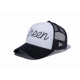 【ニューエラ公式】 ゴルフ 9FORTY A-Frame トラッカー グリーン パイル ブラック/ホワイト × ブラック メンズ レディース 56.8 - 60.6cm キャップ 帽子 11899119 NEW ERA メッシュキャップ