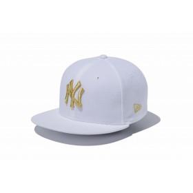 【ニューエラ公式】キッズ 9FIFTY ニューヨーク・ヤンキース ホワイト × ゴールド 男の子 女の子 52 - 55.8cm MLB キャップ 帽子 11433963 NEW ERA