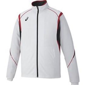 asics アシックス オールスポーツ トレーニングジャケット XAT143-0123 ホワイト×レッド 男女兼用 ウェア アパレル お取り寄せ商品