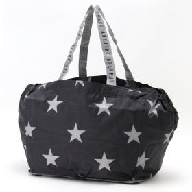 レジかごにつけられる◎コンパクト星柄ショッピングバッグ