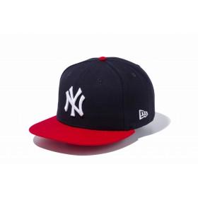 【ニューエラ公式】 9FIFTY ニューヨーク・ヤンキース ネイビー × ホワイト スカーレットバイザー メンズ レディース 57.7 - 61.5cm MLB キャップ 帽子 11308468 NEW ERA
