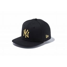 NEW ERA ニューエラ キッズ 9FIFTY ニューヨーク・ヤンキース ブラック × ゴールド スナップバックキャップ アジャスタブル サイズ調整可能 ベースボールキャップ キャップ 帽子 男の子 女の子 49.2 - 53cm 11596319 NEWERA