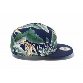 【ニューエラ公式】 ストア限定 59FIFTY ボタニカル & バックサテン ニューエラ サイドビッグロゴ ネイビーボタニカル × ホワイト ネイビーバイザー メンズ レディース 7 (55.8cm) キャップ 帽子 12069702 NEW ERA