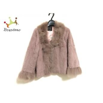 シンシアローリー CYNTHIA ROWLEY コート サイズ2 S レディース 美品 ピンク ファー/冬物 新着 20190527