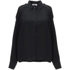 《セール開催中》MAURO GRIFONI レディース シャツ ブラック 38 アセテート 69% / シルク 31%