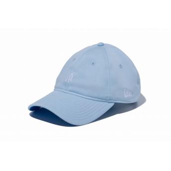 NEW ERA ニューエラ 9THIRTY ペールトーンスウェット ニューヨーク・ヤンキース ミニロゴ スカイブルー × ホワイト アジャスタブル サイズ調整可能 ベースボールキャップ キャップ 帽子 メンズ レディース 56.8 - 60.6cm 11901271 NEWERA