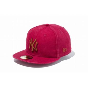 NEW ERA ニューエラ 59FIFTY ヘビーウォッシュド ダックキャンバス ニューヨーク・ヤンキース カーディナル × ブラウン ベースボールキャップ キャップ 帽子 メンズ レディース 7 1/2 (59.6cm) 11899300 NEWERA