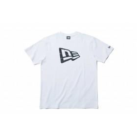 【ニューエラ公式】 コットン Tシャツ タイガーストライプラインカモ フラッグロゴ ホワイト メンズ レディース Large 半袖 Tシャツ 11901378 NEW ERA