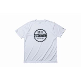 【ニューエラ公式】 Performance Apparel テック Tシャツ バイザーステッカー ホワイト × タイガーストライプカモブラック メンズ レディース Medium 半袖 Tシャツ 12026624 NEW ERA