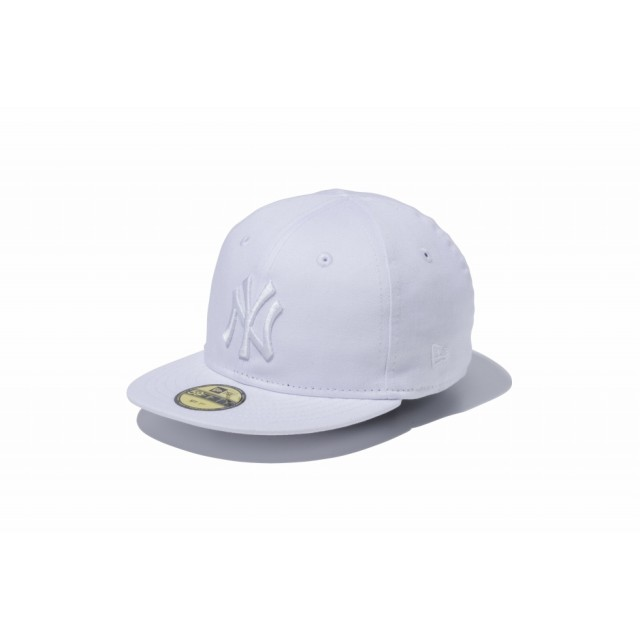 NEW ERA ニューエラ キッズ My 1st 59FIFTY ニューヨーク・ヤンキース ホワイト × ホワイト ベースボールキャップ キャップ 帽子 男の子 女の子 6 (48.3cm) 11225742 NEWERA