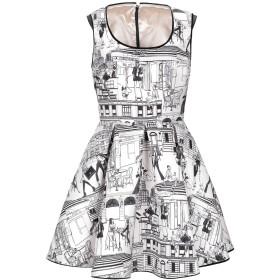 《セール開催中》ELISABETTA FRANCHI レディース ミニワンピース&ドレス ホワイト 42 ポリエステル 100%