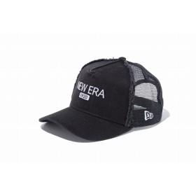 【ニューエラ公式】キッズ 9FORTY A-Frame トラッカー ニューエラ 1920 ブラック × スノーホワイト 男の子 女の子 52 - 55.8cm キャップ 帽子 11899041 NEW ERA メッシュキャップ