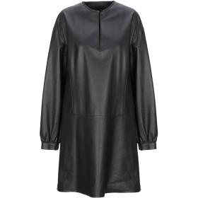 《期間限定セール開催中!》DROMe レディース ミニワンピース&ドレス ブラック M 羊革(ラムスキン) 100%