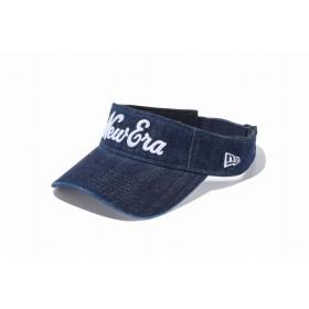 【ニューエラ公式】 ゴルフ サンバイザー ジャパンデニム New Eraオールドロゴ ウォッシュドデニム × ホワイト メンズ レディース 55.8 - 59.6cm キャップ 帽子 11899062 NEW ERA