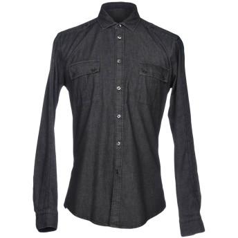 《セール開催中》BRIAN DALES メンズ デニムシャツ スチールグレー 38 コットン 98% / ポリウレタン 2%