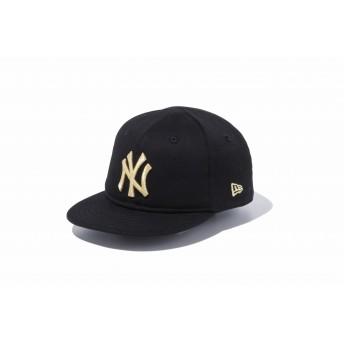 NEW ERA ニューエラ キッズ My 1st 9FIFTY ニューヨーク・ヤンキース ブラック × メタリックゴールド スナップバックキャップ アジャスタブル サイズ調整可能 ベースボールキャップ キャップ 帽子 男の子 女の子 48.3 - 50.1cm 11433919 NEWERA