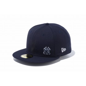 【ニューエラ公式】 59FIFTY ニューヨーク・ヤンキース フローレス ネイビー × ホワイト メンズ レディース 7 3/8 (58.7cm) MLB キャップ 帽子 12028785 NEW ERA
