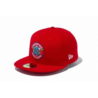 NEW ERA ニューエラ 59FIFTY ニグロリーグ メンフィス・レッドソックス スカーレット × チームカラー ベースボールキャップ キャップ 帽子 メンズ レディース 7 1/2 (59.6cm) 11899309 NEWERA