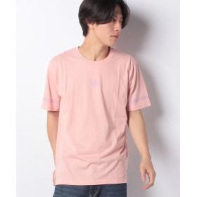【34%OFF】 ウィゴー WEGO/ハートスリーブプリントTシャツ ユニセックス ライトピンク M 【WEGO】 【タイムセール開催中】