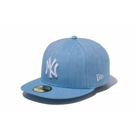 【ニューエラ公式】 59FIFTY オックスフォード ウォッシャー ニューヨーク・ヤンキース ブルー × スノーホワイト メンズ レディース 7 1/8 (56.8cm) MLB キャップ 帽子 11899293 NEW ERA