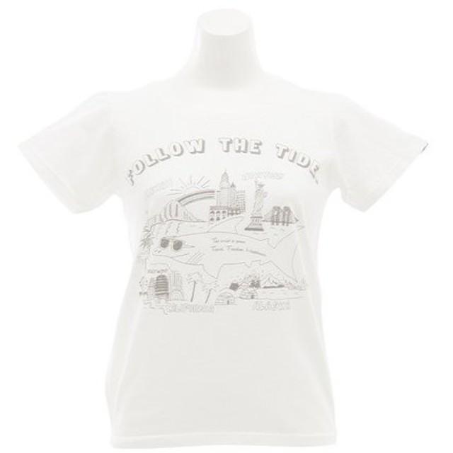 クリフメイヤー(KRIFF MAYER) アートTシャツ シャーク 1719918L-1-WHT (Lady's)