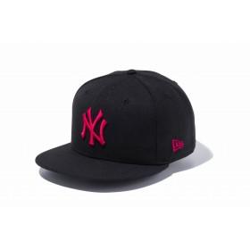 【ニューエラ公式】 9FIFTY ニューヨーク・ヤンキース ブラック × ストロベリー メンズ レディース 57.7 - 61.5cm MLB キャップ 帽子 11308472 NEW ERA