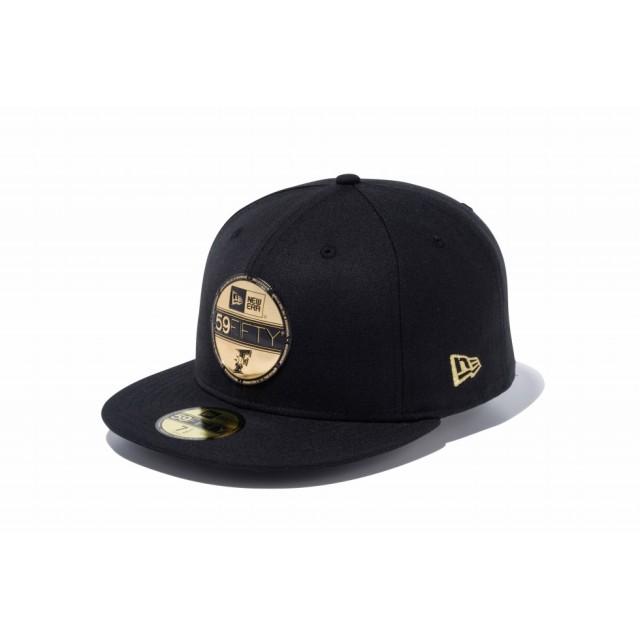 【ニューエラ公式】 59FIFTY NPB バイザーステッカー 北海道日本ハムファイターズ ブラック × ゴールド メンズ レディース 7 1/2 (59.6cm) NPB キャップ 帽子 11901313 NEW ERA