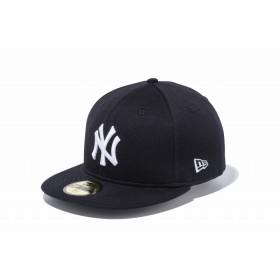 NEW ERA ニューエラ 59FIFTY ペールトーンスウェット ニューヨーク・ヤンキース ブラック × ホワイト ベースボールキャップ キャップ 帽子 メンズ レディース 7 (55.8cm) 11901299 NEWERA