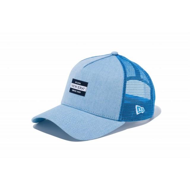 【ニューエラ公式】 9FORTY A-Frame トラッカー オックスフォード ウォッシャー ニューエラ ニューヨーク 1920 ラベル ブルー メンズ レディース 56.8 - 60.6cm キャップ 帽子 11899204 NEW ERA メッシュ