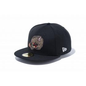 【ニューエラ公式】 59FIFTY 石川真澄 Masumi Ishikawa 亥 ブラック メンズ レディース 7 (55.8cm) キャップ 帽子 11909231 コラボ NEW ERA
