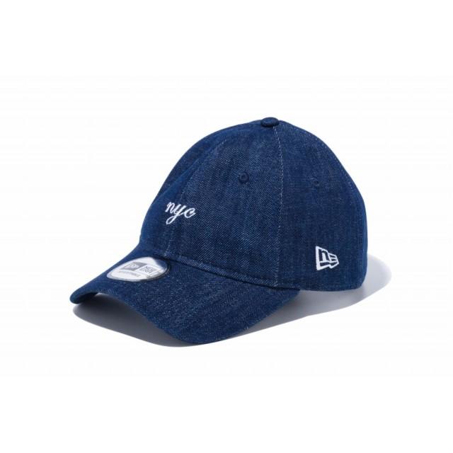 【ニューエラ公式】 9THIRTY クロスストラップ nyc ミニロゴ インディゴデニム × スノーホワイト メンズ レディース 56.8 - 60.6cm キャップ 帽子 12048737 NEW ERA