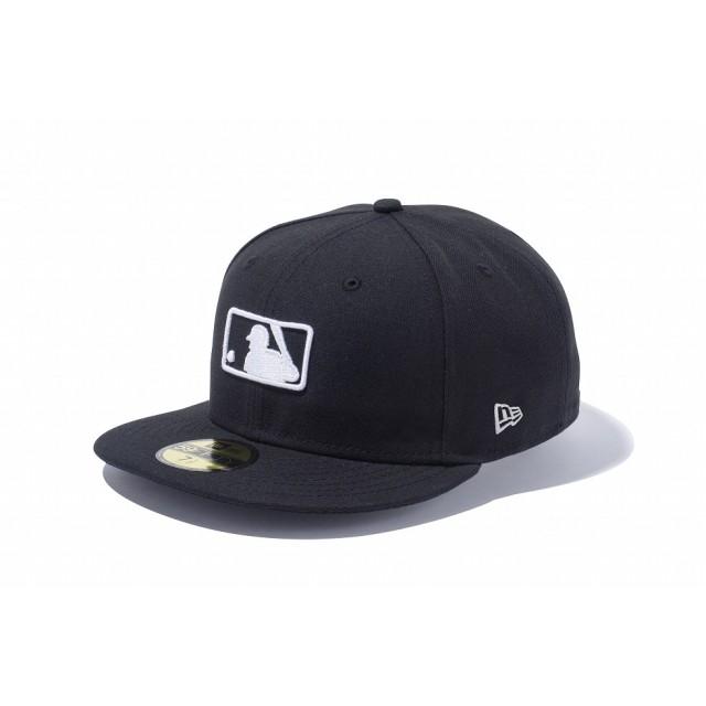 【ニューエラ公式】 59FIFTY MLBロゴ ブラック × ホワイト メンズ レディース 7 (55.8cm) MLB キャップ 帽子 11596353 NEW ERA