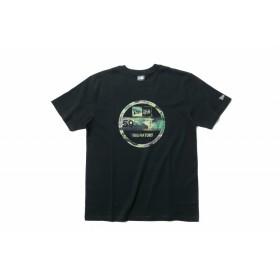 【ニューエラ公式】 コットン Tシャツ ウッドランドカモ バイザーステッカー ブラック メンズ レディース Small 半袖 Tシャツ 11556777 NEW ERA